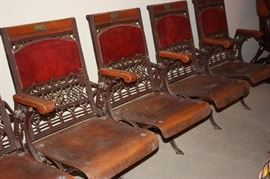 Row of antique theatre seats