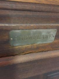 Plaque on oak ice Box