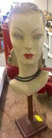 Fantastic 1940s Mannequin Bust Head
