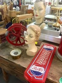 Pepsi Cola Thermometer and a lot of Antiques