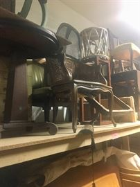 Assorted small tables & chairs