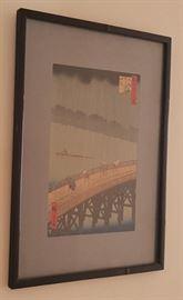 HPT038 Sudden Shower Over Shin-Ohashi Bridge & Atake Print