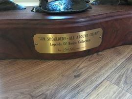 "Edd Hayes bronze of ""Jim Shoulders- All Around Champ"" Legends of Rodeo Collection"