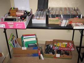 DVD's, CD's, office supplies