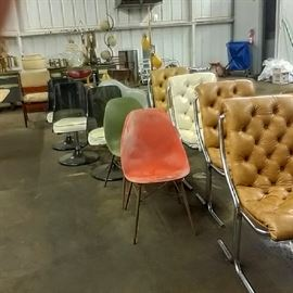 lots of chairs and lamps to choose from!