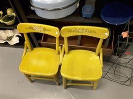 Vintage children's chairs