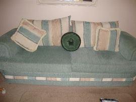 Aqua colored sofa -  we have 2 of them
