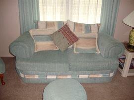 Aqua Colored Sofa