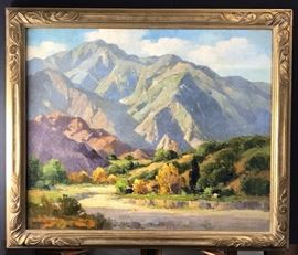 Palm Desert, Oil on canvas, 24 x 30 in. circa 1925