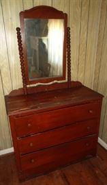 Vintage 3-drawer Dresser with Mirror