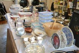 Kitchen storage, cookware, dishes
