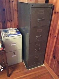 Metal industrial vintage filing cabinets
