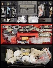 Toolbox filled with electrical supplies