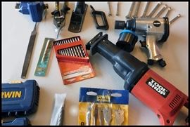 Tools including files, wrenches, drills, clamps and more