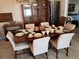 Table with 6-Upholstered Chairs