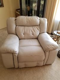 Very Comfortable Leather Recliner with  Automatic Control