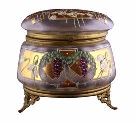 Art Glass Boudoir Jar