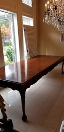 Mahogany dining table seating for 8 people