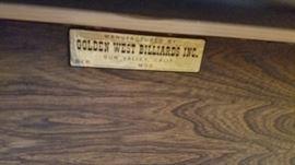 "Billiard Table by ""Golden West Billiards"""
