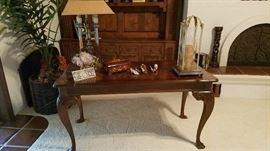 Wood Secretary Desk ... Lamps