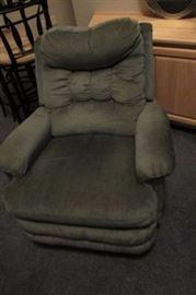 long gray recliner