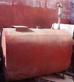 Huge Metal Holding Tank - OIL HOLDING TANK
