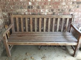 Heavy Wooden Bench