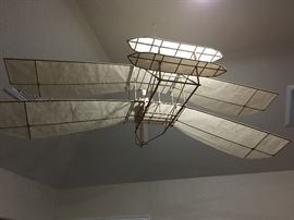 Model Bi-wing Airplane, about a 4' wingspan