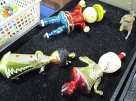 Antique Hand Blown glass Christmas Ornaments