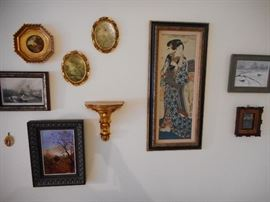 Various Vintage Prints, Oils Framed