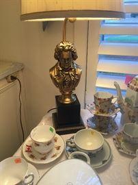 Beethovan heavy brass piano lamp