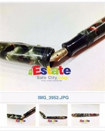 marble Parco Parker MADE IN THE USA. 14KT NIB fountain pen vintage . good condition