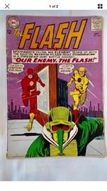 $100.00 OBO Reverse flash 147 silver age This is the second appearance of professor zoom. Rare silver age comic book the flash 147 Fair condition grade 1.5 . All pages are present just some standard wear .