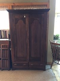 Chippendale Style Mahogany Armoire Ca. 1870