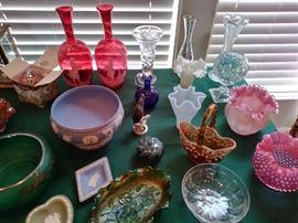Cranberry, Fenton ,Carnival glass