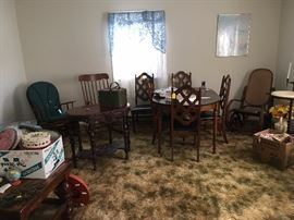 So many beautiful chairs and accent pieces.  These are located upstairs of the house.
