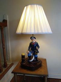 Handmade and Handpainted Lamp