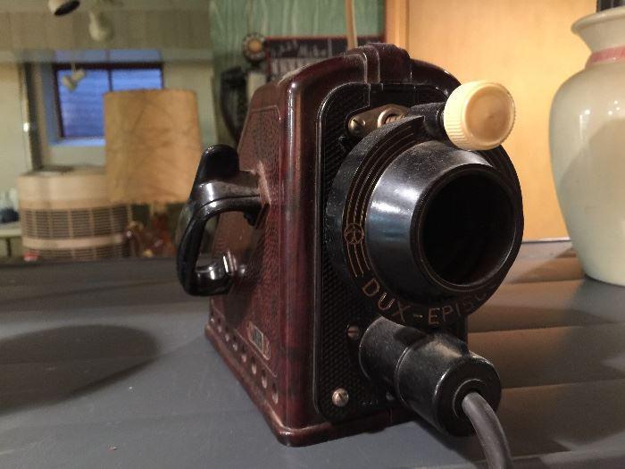 Vintage Dux Episcop Bakelite Projector.   Made in Germany-Collector's Piece WORKS!