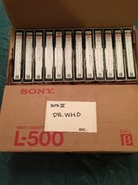 Any Betamax lovers out there?  24 recorded Betamax tapes of Dr. Who.