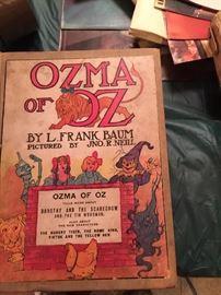 vintage Ozma of Oz book