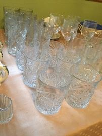 vintage Libby American Brilliance Cut Glass Tumblers