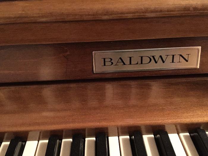 Beautiful vintage Baldwin Acrosonic piano with bench.