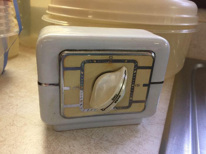 vintage porcelain kitchen timer