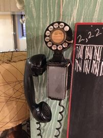 Vintage 1954 Bell System Western Electric SPACE SAVER Rotary Dial Wall Telephone