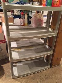 plastic shelving for sale