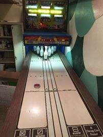 vintage Chicago Coin Bowling machine!  Works but needs some maintenance.  Great addition to your game room or man cave.