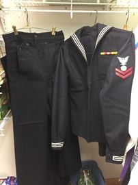 vintage Navy uniforms - have 3 pair of pants and 2 shirts