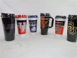 (6) Assorted Collegiate Insulated Mugs - Mixed
