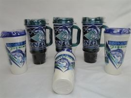 (6) Fishing Themed Insulated Mugs