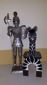Children's Zebra Chair and a Knight in Shining Armor